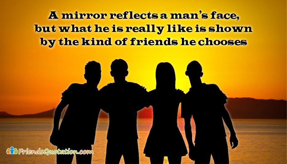 A Mirror Reflects A Man