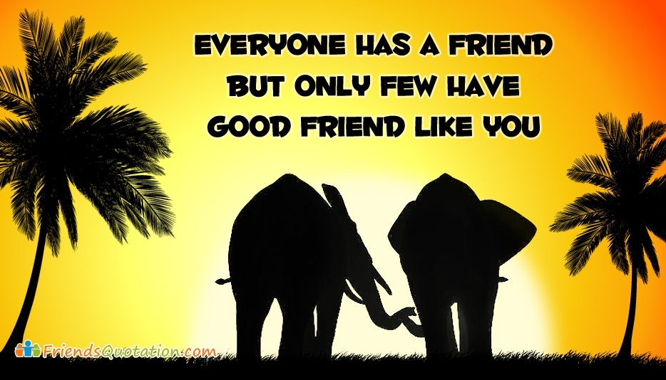 Everyone has a Friend But Only Few have Good Friend Like You - Best Friends Quotes for Facebook