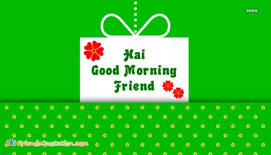 Good Morning Friendship Greetings