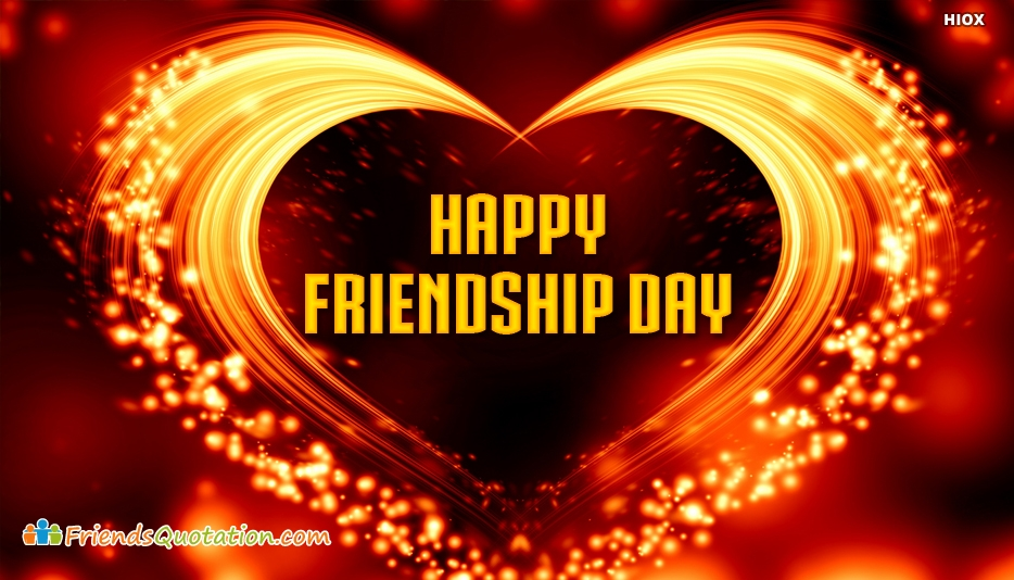 Happy Friendship Day With Heart - Best Friends Quotes for Lover