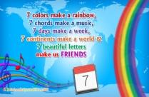 7 Colors Make A Rainbow
