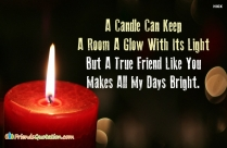 A Candle Can Keep A Room
