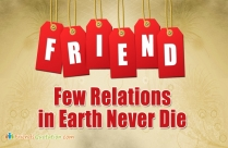 Few Relations In Earth Never Die
