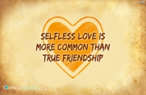 Selfless Love Is More Common Than