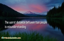 The Worst Distance Between Two People