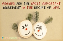 Friends Are The Most Important Ingredient