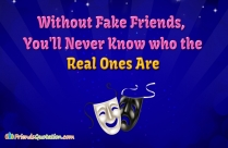 Without Fake Friends, You